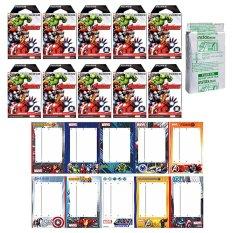 Fujifilm Instax Mini Avengers Instant 100 Film For Fuji 7.8 2.50s 7.90 / Polaroid 300 Instant Camera / Share SP-1 Printer - INTL
