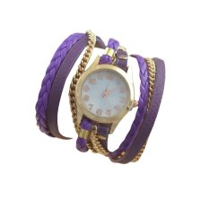 Functional Watch Ladies Leather Chain Chain Crystal Quartz Watch