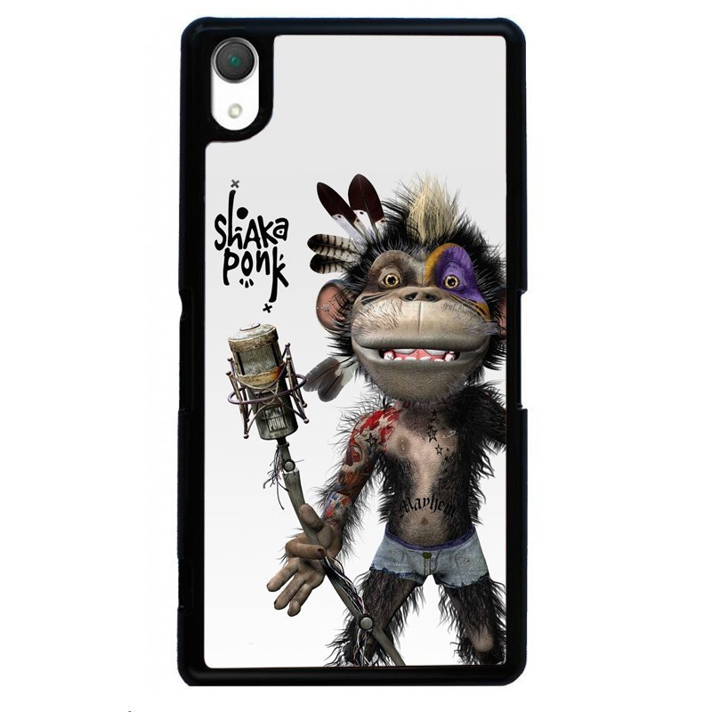 Funny Monkey Printed Cover For Sony Xperia Z4 (Black)