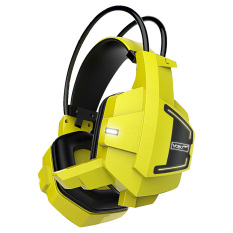 Gamer Headset Deep Bass Microphone Protable Audio Earphone  (Yellow) - Intl