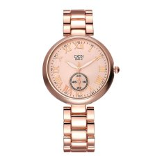 GEDI 2016 New Luxury Brand Women's Quartz Watch Date Day Clock Gold Steel Watch Ladies Fashion Casual Watch Women Wrist Watches - Intl