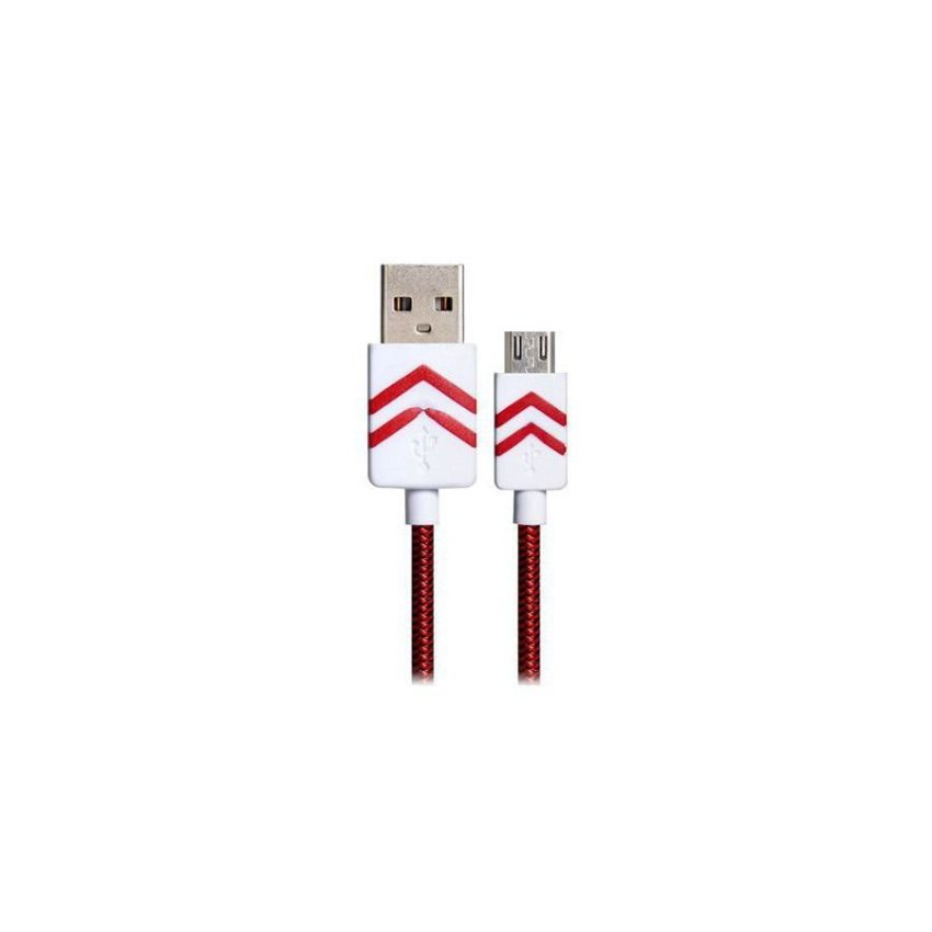 Generic 1.2m Micro USB Woven Charging Data Cable (Red)