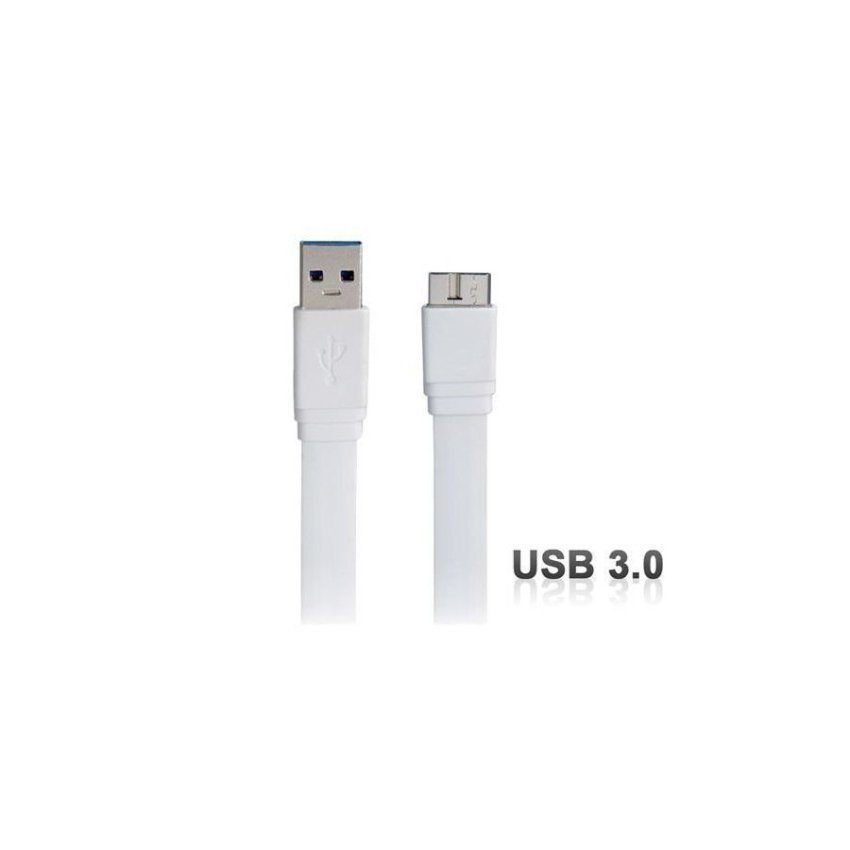 Generic 1 m USB Flat Charging Data Cable for Samsung Galaxy Note 3 N9000 N9002 N9005 (White)