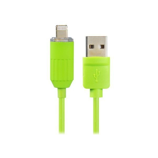 Generic 2578S 8 pin Round Data Cable with LED Light for iPhone 6/6 Plus/5/5S/5C Green