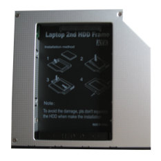 Generic 2nd Hard Drive Hdd Ssd Caddy For Apple Macbook Pro 15 Santa Rose- Intl