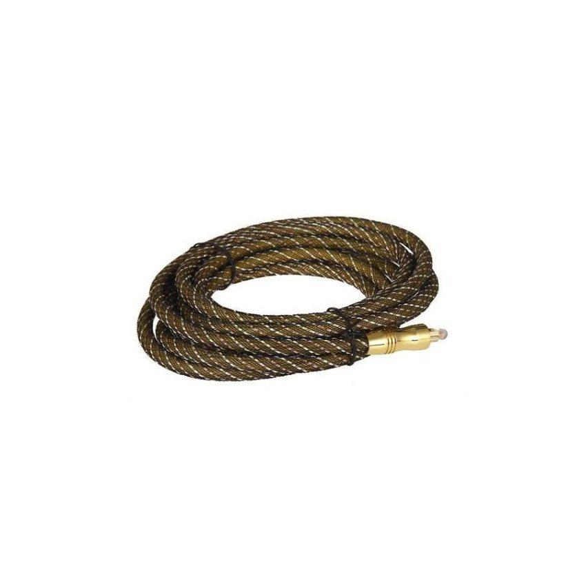 Generic 3 m 24K Gold plated Braided Optical Cable