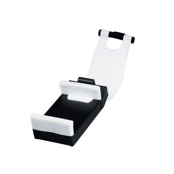 Generic Adjustable Car Steering Wheel Phone Socket Holder Black/White