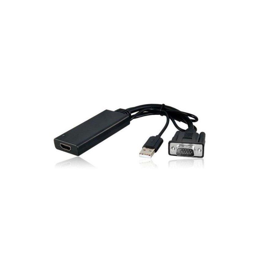 Generic AY55 VGA to HDMI Converter Adapter Cable (Black)