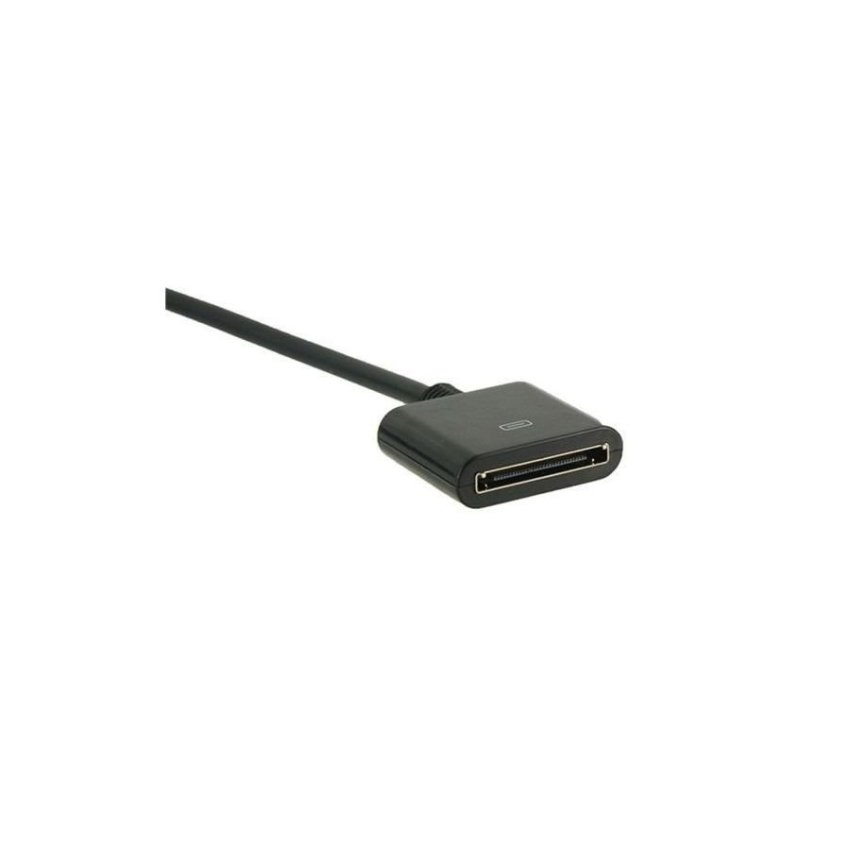 Generic Dock Extension Cable for All Apple Devices Black