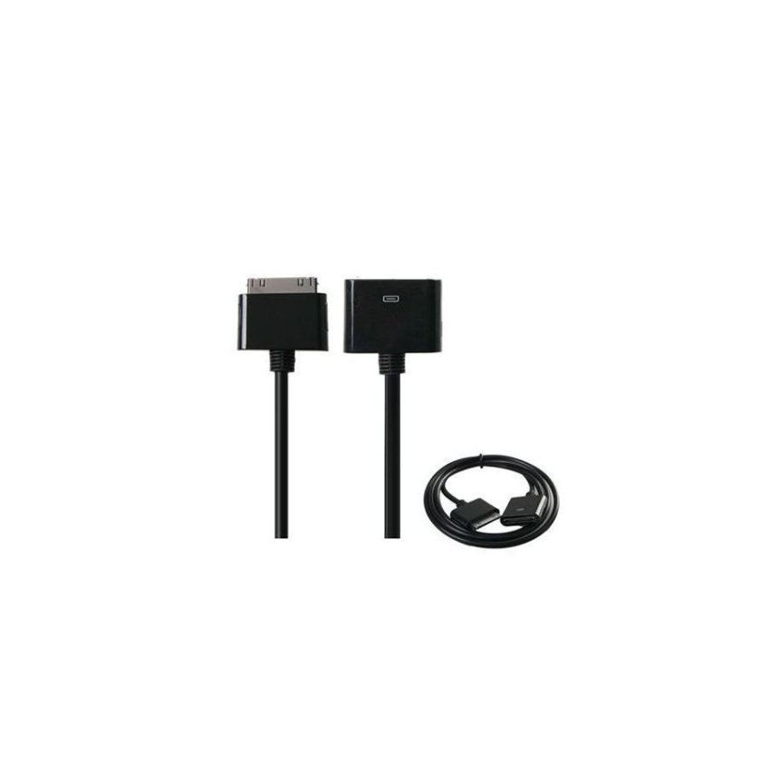 Generic Female to Male Extension Data Cable for iPhone 4G/3G/3GS/iPod Touch/iPod Nano Black