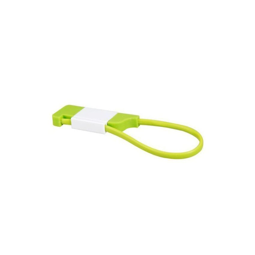 Generic Key Chain Design Micro USB Data Cable (Green)