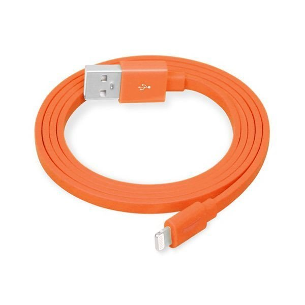 Generic MFi Lightning 8 Pin to USB Flat Charging Data Cable with TPE Jacket for iPhone 5S/5 Orange