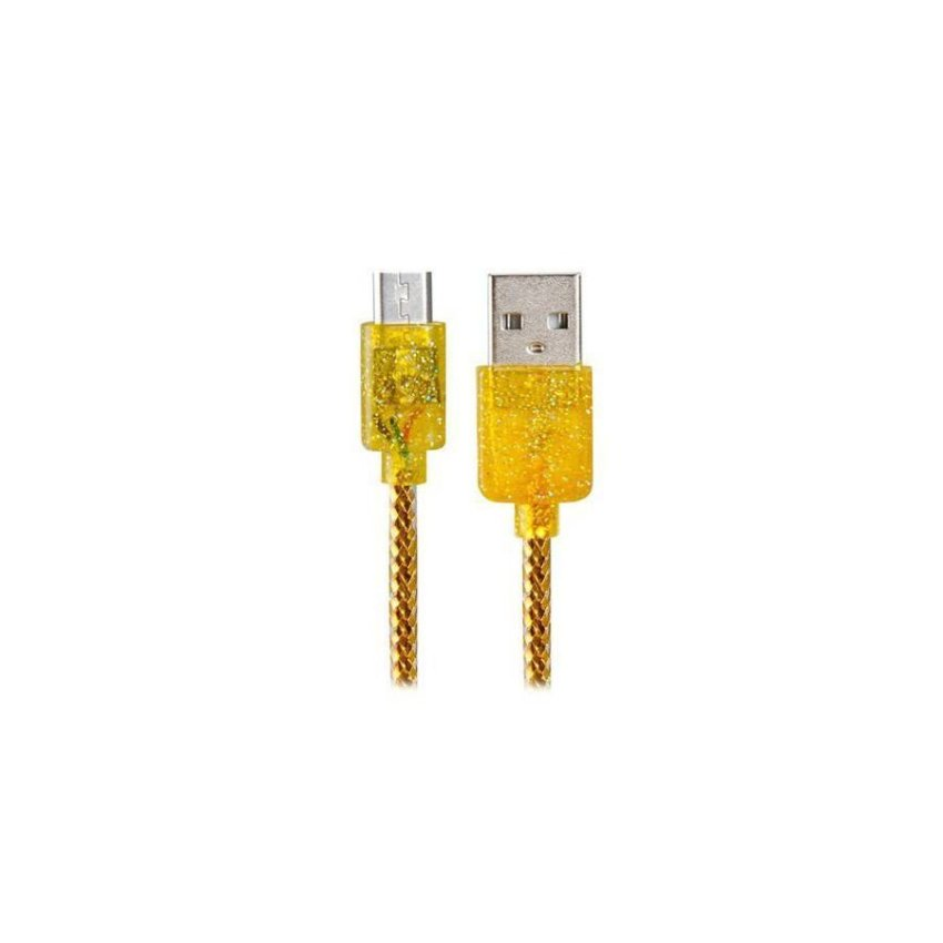 Generic Micro USB to USB 2.0 Charging Data Cable with Fragrance(Golden)