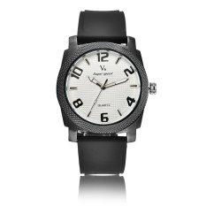 Genuine Leather Watch Men Silicone Mens Watch Outdoor Sports Men's Wrist Watches Quartz Clock Male Simple Dial Designer Famous - Intl