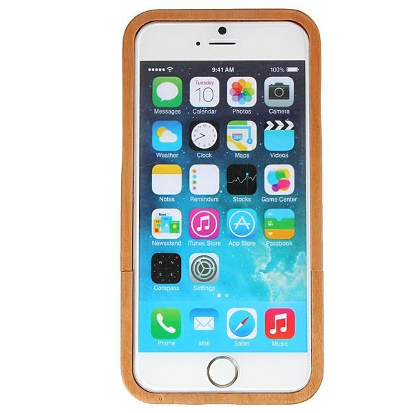 Genuine Real Natural Cherry Wooden Hard Back Case Cover For iPhone 6 4.7''