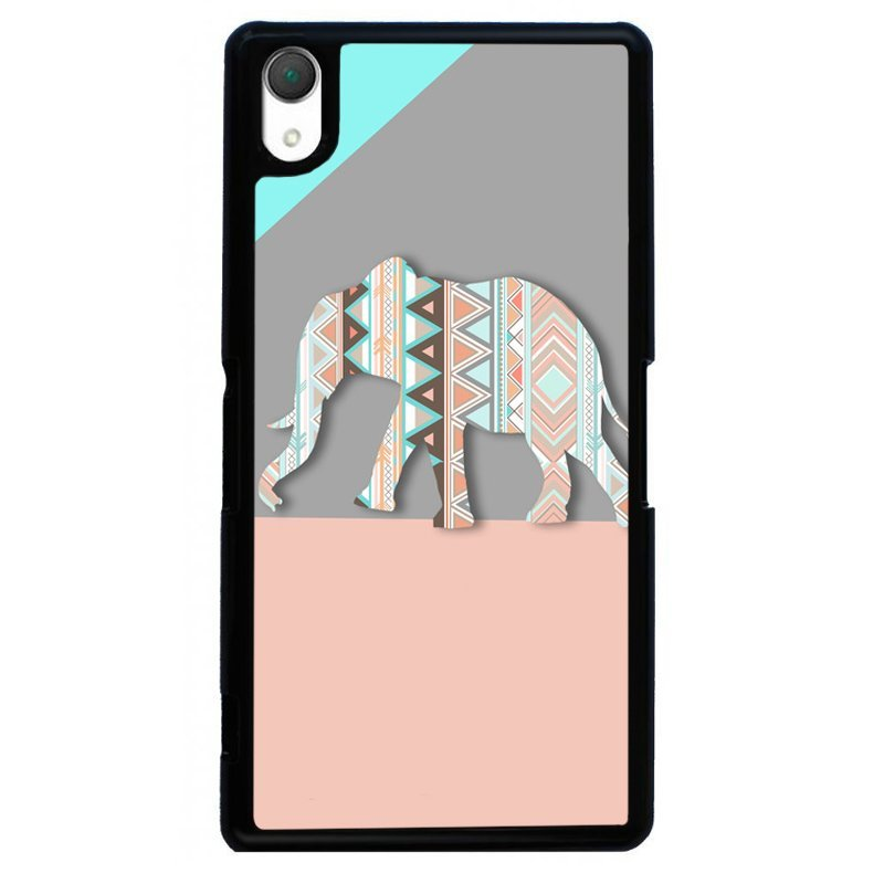 Geometry Thailand Elephant Painting Phone Cover For Sony Xperia Z2 (Black)