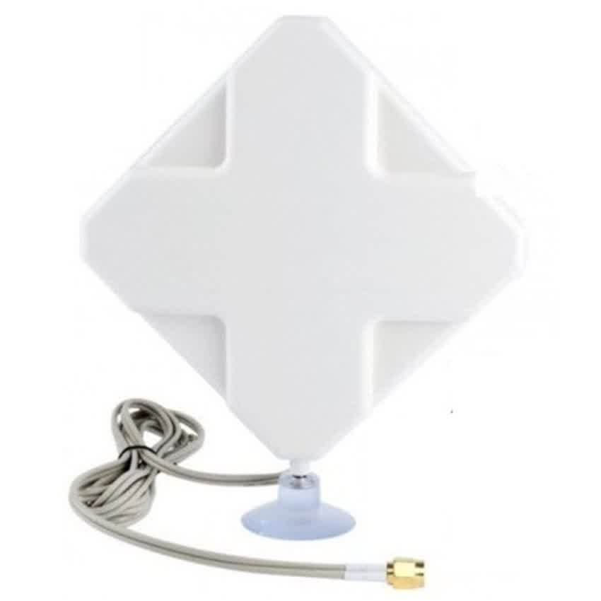 Ghz 35dBi 4G LTE MIMO External Antenna for Modem Routers - Dual CRC9 Connector - Putih