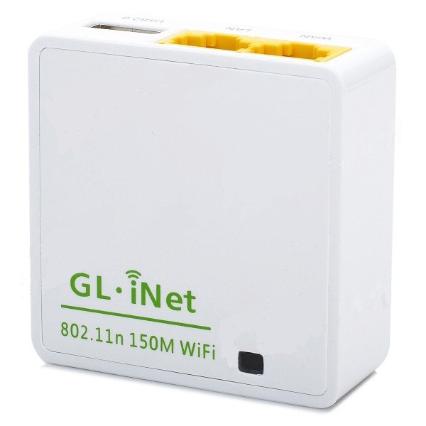 GL.iNet OpenWRT Mini Smart Router 16MB ROM - 6416A - Putih