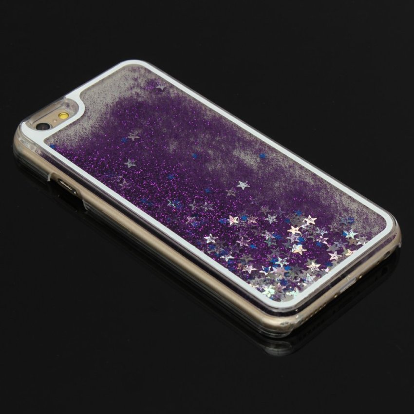 Glitter Bling Stars Colourful Liquid Novelty Case Cover Protector for iPhone 6