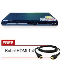 GMC BM088A DVD Player HDMI 5.1 - Hitam (Gratis Kabel HDMI)