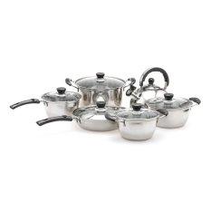 Golden Pan Stainless Steel Set Perangkat Masak - 12 Buah