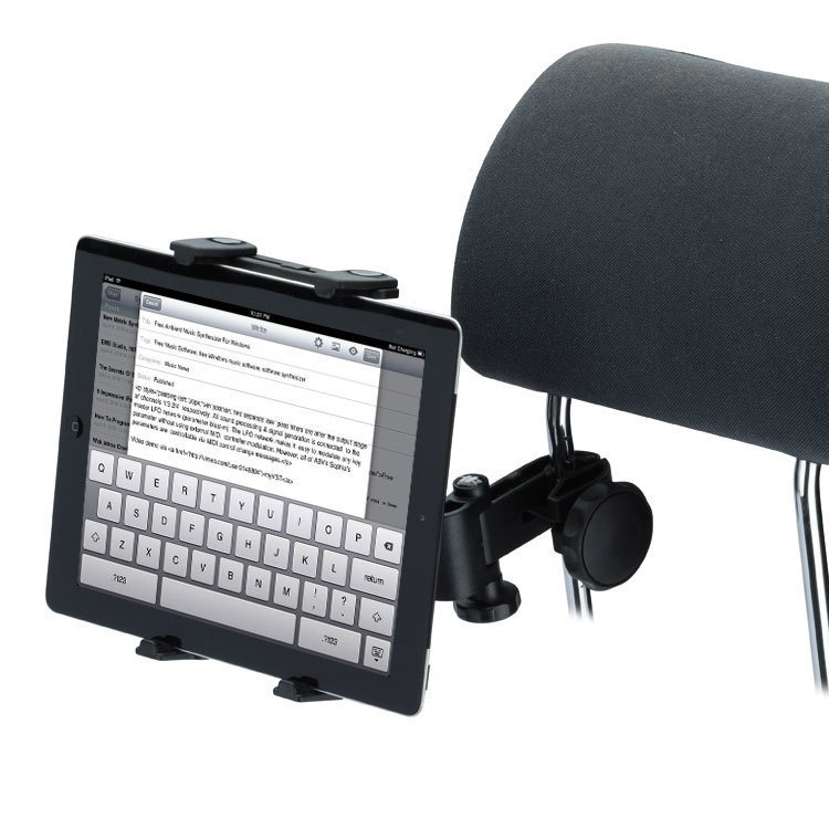 GOLDFOX A3914 Universal Car Auto Headrest Tablet Holder 360 Degree for iPad Epad Touch Pad 5-10 inches Black (Intl)
