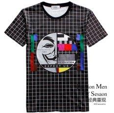 Good Quality Fashion Tv Station Short Sleeve Round Neck Elastic Sports Lovers Women Men Unisex 3d T Shirt - Intl