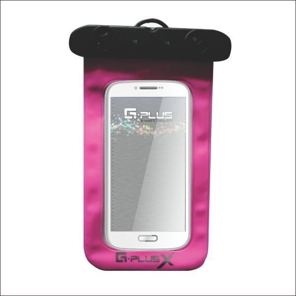 GPlus Sarung HP Anti Air Waterproof Pouch - Pink