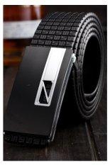 Gracefulvara Men's Faux Leather Belt Leisure Style Waist Strap Waistband (Black)