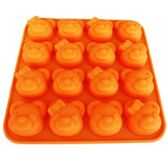 Griya Cetakan Bear Couple 16 Cavity - Oranye