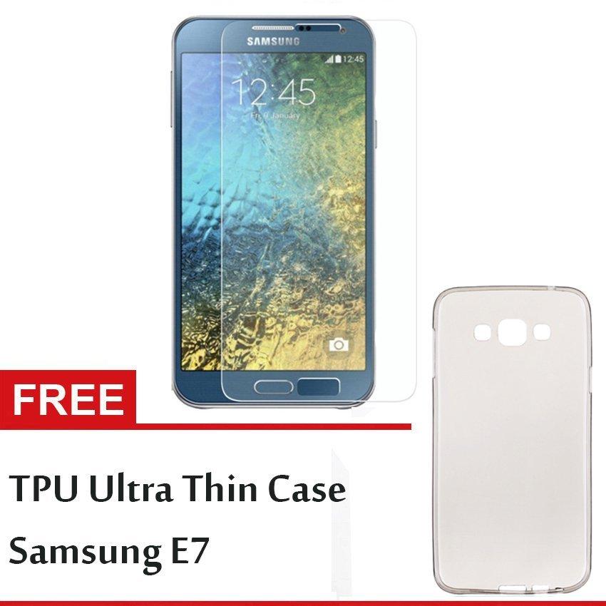GStation Tempered Glass Samsung E7 + Gratis TPU Ultra Thin Samsung E7