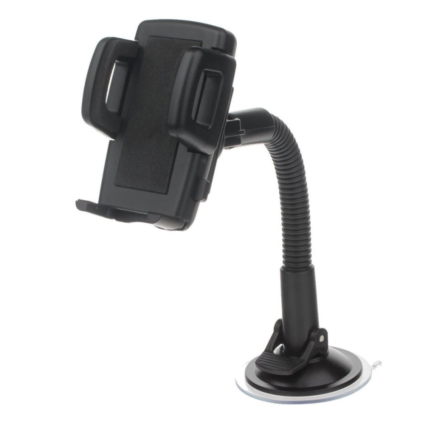 H05 360 Degree Rotation Four Ports Suction Cup Holder w/ C47 4.3/5'' Back Clip - Black (Intl)