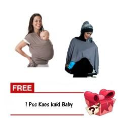 Hanaroo Gendongan Baby Wrap Hanaroo 2in1 Nursing Cover Tudung
