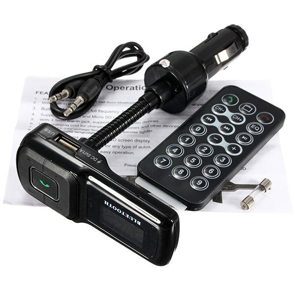 Handsfree Bluetooth Car Kit FM Transmitter Modulator USB SD MP3 Player Remote (Intl)