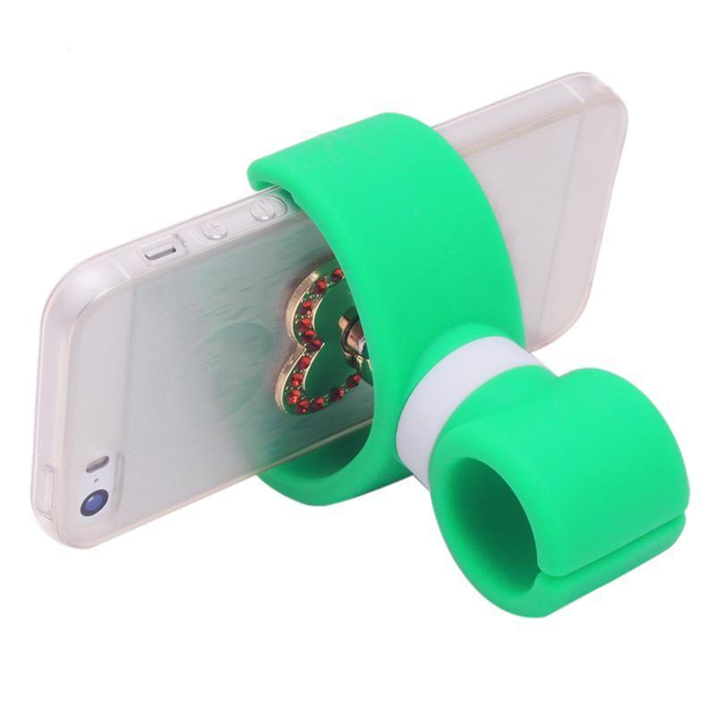 Hang-Qiao Universal 360 Degrees Bicycle Car Cell Phone Holder Air Vent Mount Stand (Green) (Intl)