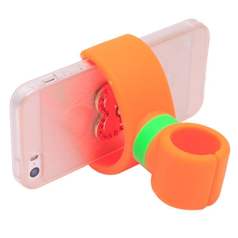 Hang-Qiao Universal 360 Degrees Bicycle Car Cell Phone Holder Air Vent Mount Stand (Orange) (Intl)