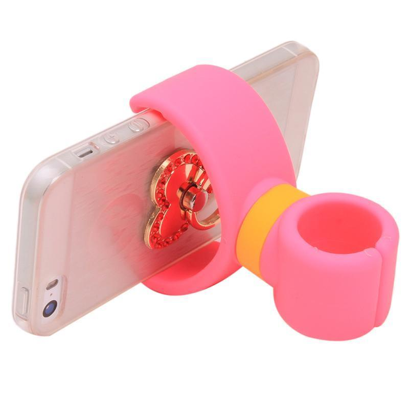 Hang-Qiao Universal 360 Degrees Bicycle Car Cell Phone Holder Air Vent Mount Stand (Pink) (Intl)