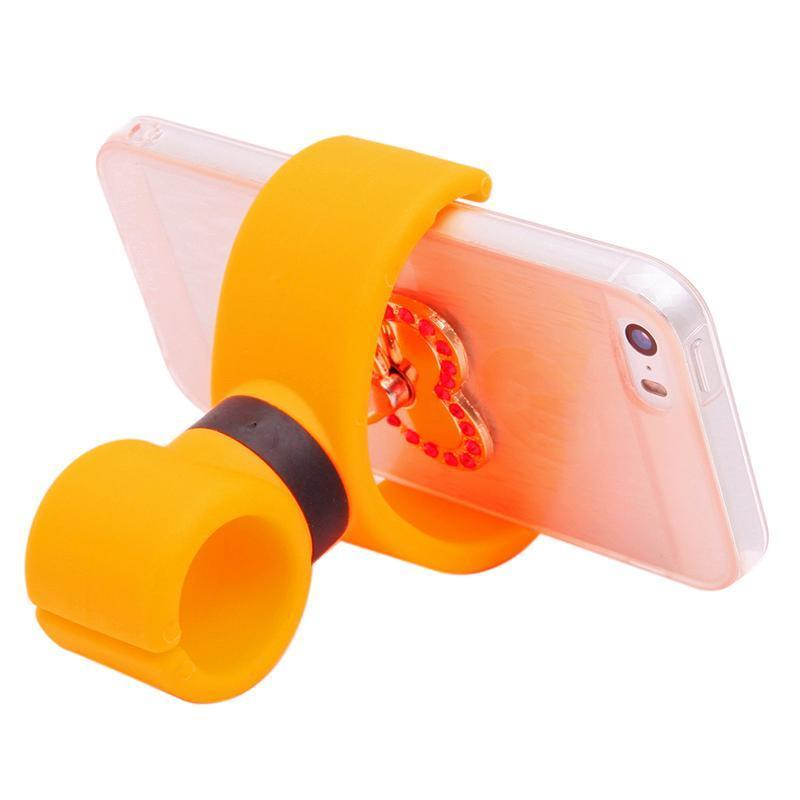Hang-Qiao Universal 360 Degrees Bicycle Car Cell Phone Holder Air Vent Mount Stand (Yellow) (Intl)
