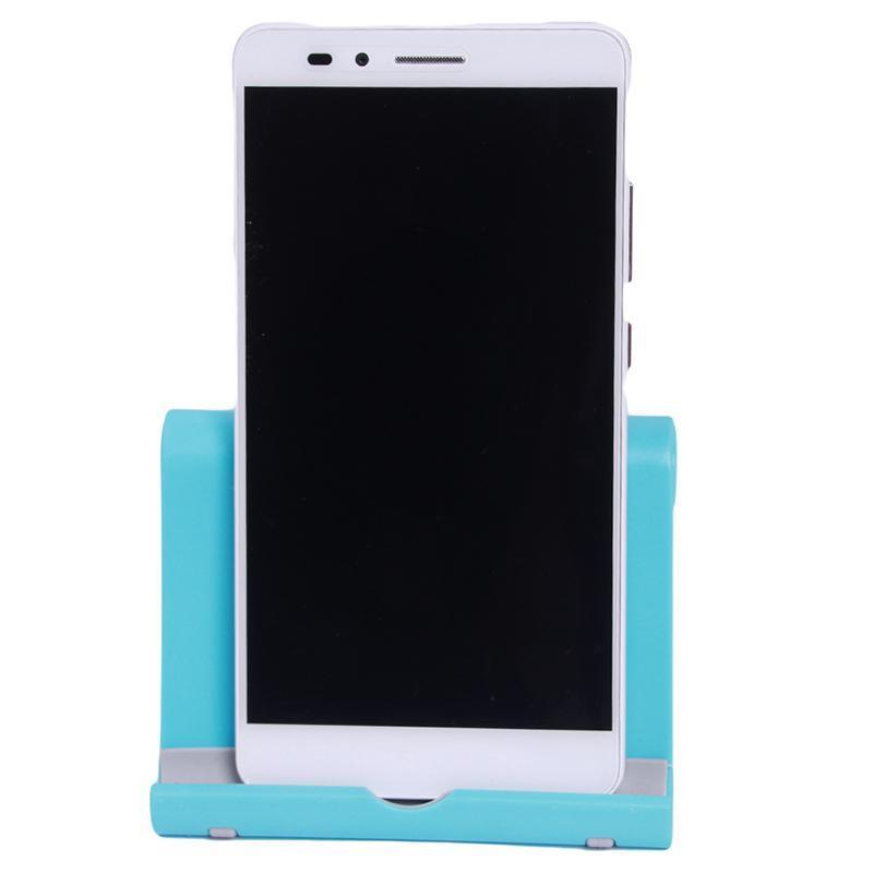 Hang-Qiao Universal Foldable Tablet Mobile Phone Holder Stand Adjustable Mount (Blue) (Intl)