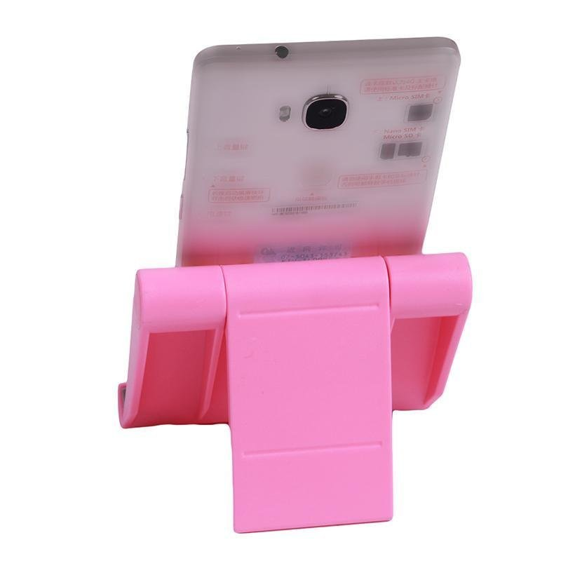 Hang-Qiao Universal Foldable Tablet Mobile Phone Holder Stand Adjustable Mount (Pink) (Intl)