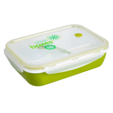 HAOFEI 3 + 1 Lunch Box Kids Bento Lunch Box Picnic Lunch Container (Green) - INTL
