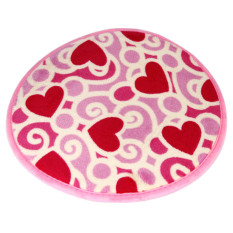Happy Home 30*30cm Memory Foam Mat Living Room And Bathroom Decorate Anti-Slip Fashion Rug Pastoral Heart Round Floor Carpet