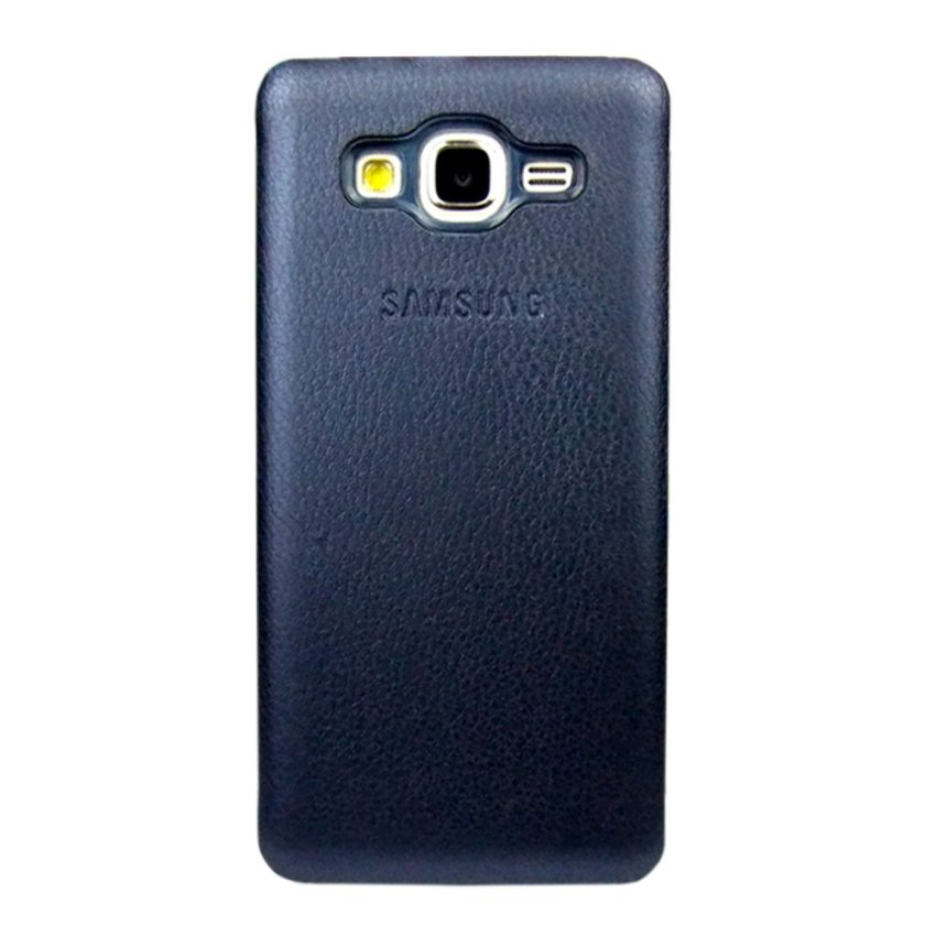 Hardcase Leather Clear Case for Samsung Galaxy J7- Biru Dongker