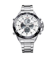 Hazobau WEIDE Mens Analog Digital LCD Screen LED Watches (White)