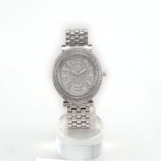 Hazyasm HEMNEZ Authentic Korean Fashion Trend Diamond Jewelry Watches Fashion Table Quartz Watch Waterproof And Shockproof (Silver)