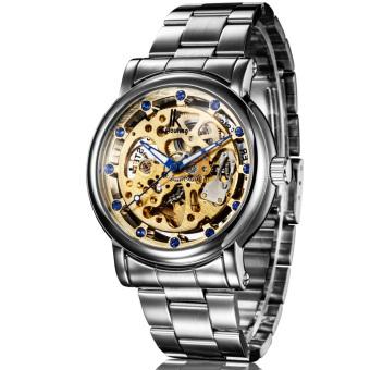Hazyasm IK Apa Qi Hollow Full-automatic Mechanical Watch Diamond Male Table Men's Watch Disc-98228G (Gold)