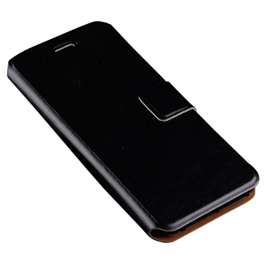 HB02 Golden Fame Stand Flip Cover for iPhone 6 Black