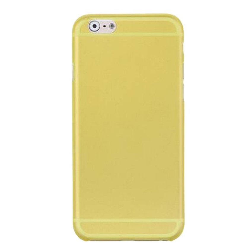 HB08 Cases Scrub Protect Shell 0.03 mm Slim Transparent Phone shell for iPhone 6 Yellow