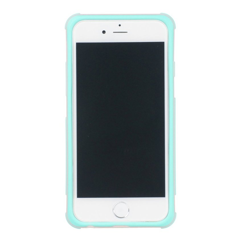 HB13 Cases TPU Double Color Border Cell phone Hit color Frame Phone shell Protective sleeve for iPhone 6 Plus Green