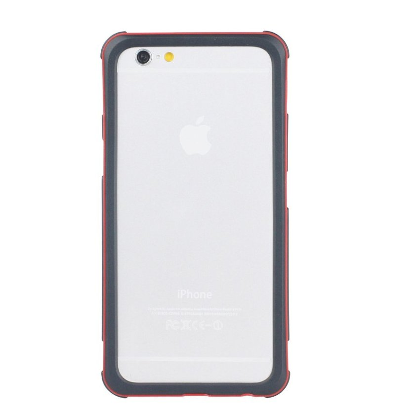 HB13 Cases TPU Double Color Border Cell phone Hit color Frame Phone shell Protective sleeve for iPhone 6 Plus Red